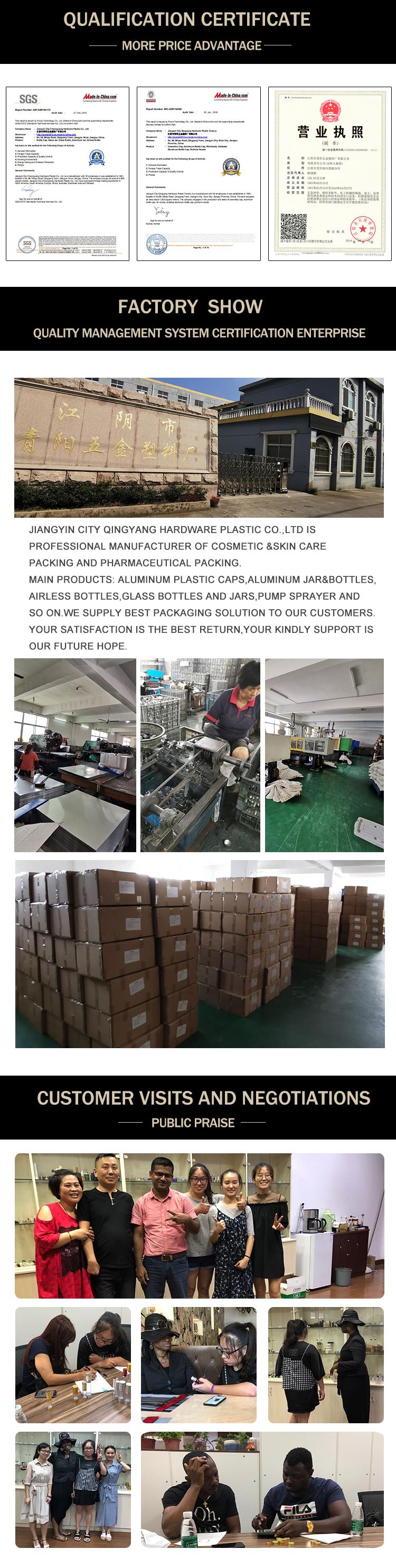 15ミリリットル30ミリリットル50ミリリットルエアレスポンプボトル、ローションクリームボトル、化粧品ボトル包装用クリーム