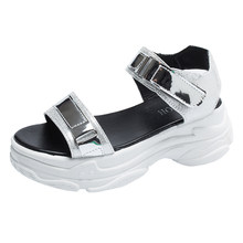 MBR силы на платформе с открытым носком женские босоножки женские туфли на танкетке на высоком каблуке; Женская обувь из ткани, расшитой блес...(Китай)