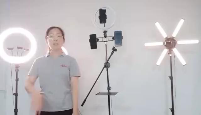 Özel 30cm maquillaje fotos para led aro de luz Led Selfie halka ışık ile Tripod standı Video yayını için makyaj