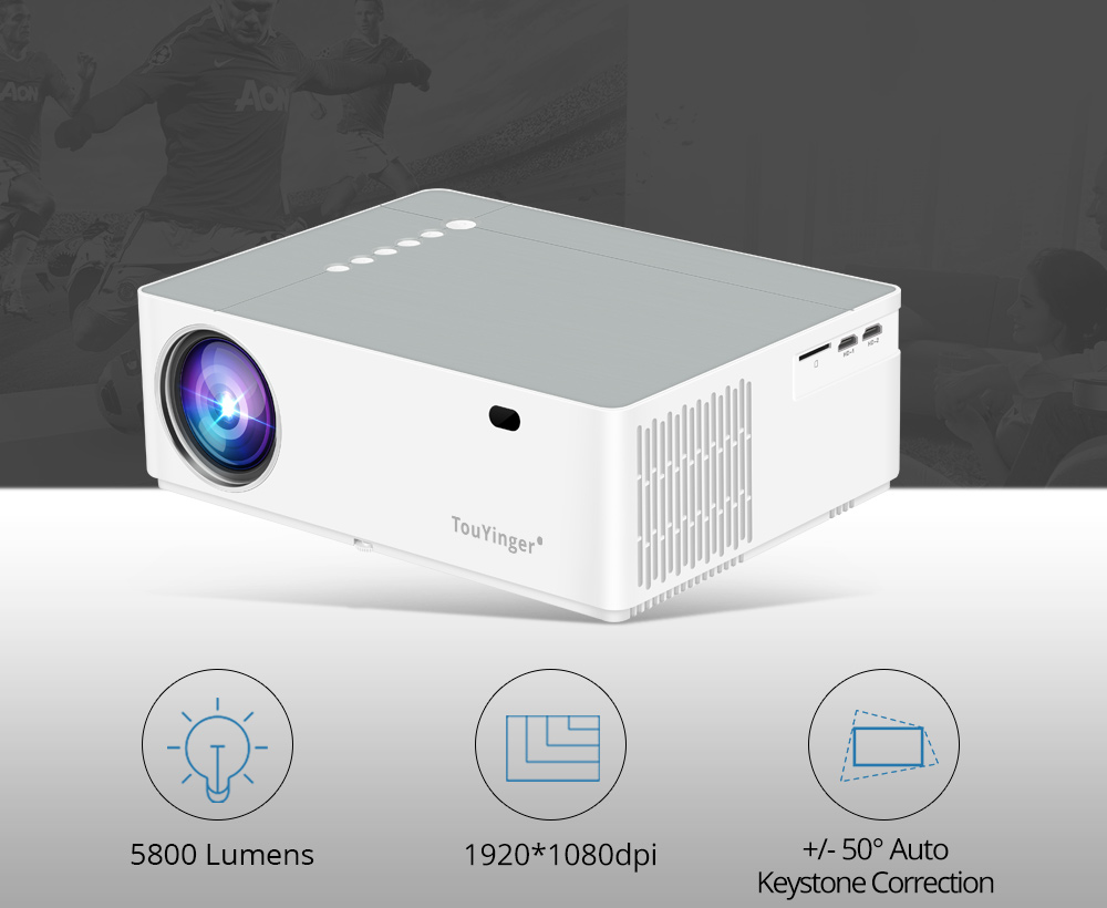 Official Supplier TouYinger M19 Projector Full HD 1080P 5800lumen Support AC3 LED video Home Theater Full HD Movie Beamer