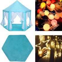 Замок принцессы складной Типи детская палатка игровой домик вигвама Портативная Игрушка палатки для детей девочка наружная крытая палатка...(Китай)