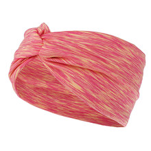 1 шт. повязка на голову для йоги, бандажные резинки для волос, резинки для волос с узлом, эластичная повязка на голову, цветные тянущиеся аксе...(Китай)