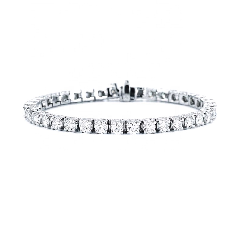Bridal jewelry 925 silver diamond <strong>tennis</strong> <strong>bracelet</strong> women