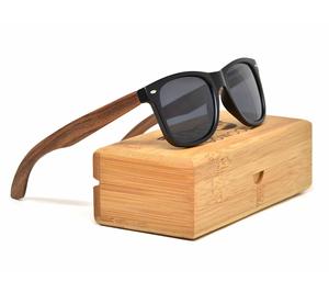 Custom bamboo temple polarized sunglasses las gafas de sol 2019 plastic sunglasses with eyewear cases
