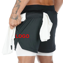 2 in 1 Compression <span class=keywords><strong>Shorts</strong></span> Mens Turm Schleife Kordelzug Lauftrainingsanzug Fitness Schweiß <span class=keywords><strong>Männer</strong></span> <span class=keywords><strong>Shorts</strong></span>