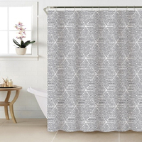 New pattern custom printed elegant plaid stripe PEVA shower fancy curtain