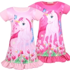 Toddler Children Girls Nightgown Silk Halloween Pink Girls Nightdress Summer Teen Christmas Unicorn Sleepwear Pajamas Kids
