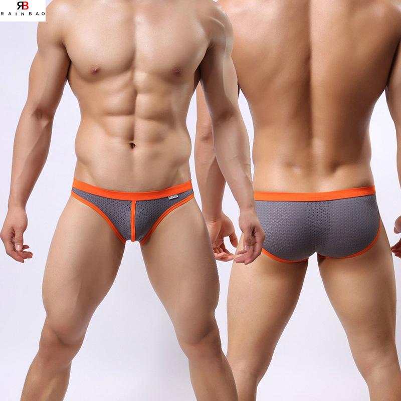 2019 新の男性の超薄型メッシュの下着男性セクシーブリーフ通気性と透明ショーツ