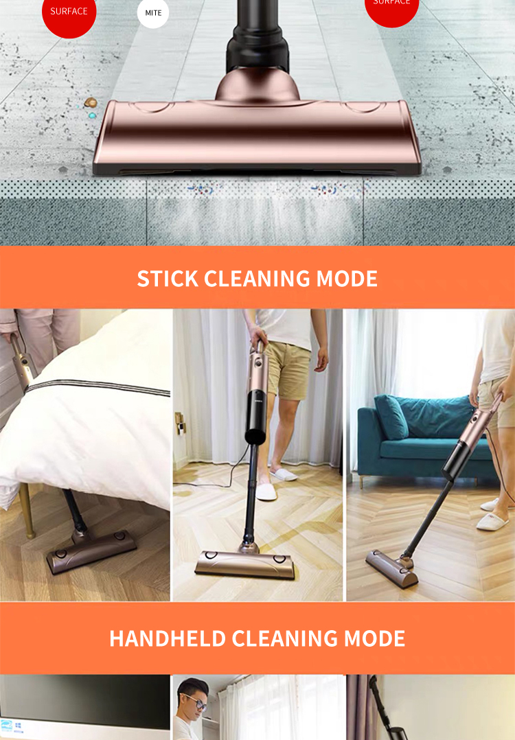 400W 13KPA  handheld stick vacuum cleaner for household