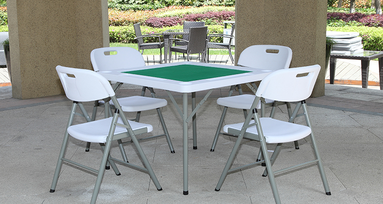 6 Feet Outdoor Height Adjustable Folding Table One Piece Top Plastic Folding Table