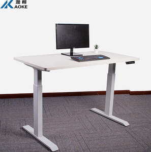 Professional China factory AOKE metal office desk height adjustable with two legs