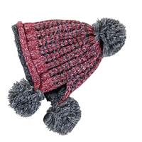 Korean cute knitted outdoor thick wool hat warm autumn and winter ladies cute teen student hat