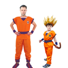 Dragon Ball Z Clothes Suit Son Goku Cosplay Costumes Top/Pant/Belt/Wig For Adult Kids Children's Day Gift