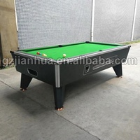 Factory Token Coin Operated Pool Table Negotiable Price 6ft /7ft / 8ft / 9ft Pool Table with Coin Acceptor