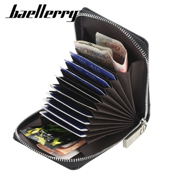 Baellerry Fashion Men's Zipper Card Wallet Hot Leather Coin Purse