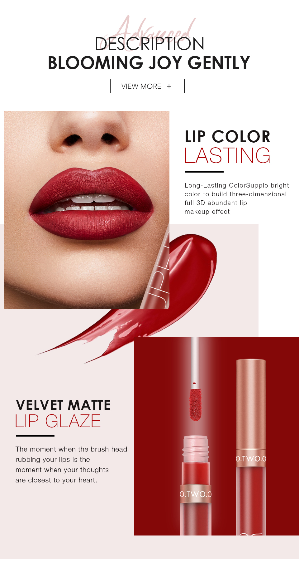 O.TWO.O New Arrival Matte Lipgloss Waterproof Kiss Proof Long Lasting Nude Liquid Lipstick for Private Label