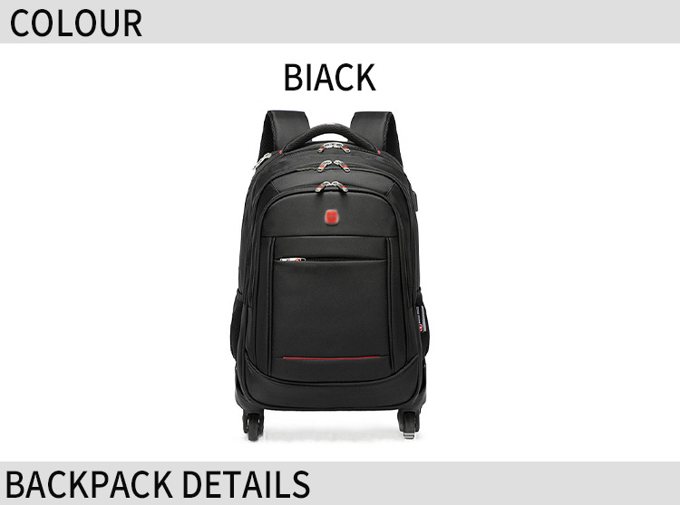 Carry-on school backpacks good quality custom recyclable materials useful trolley luggage factory wholesale