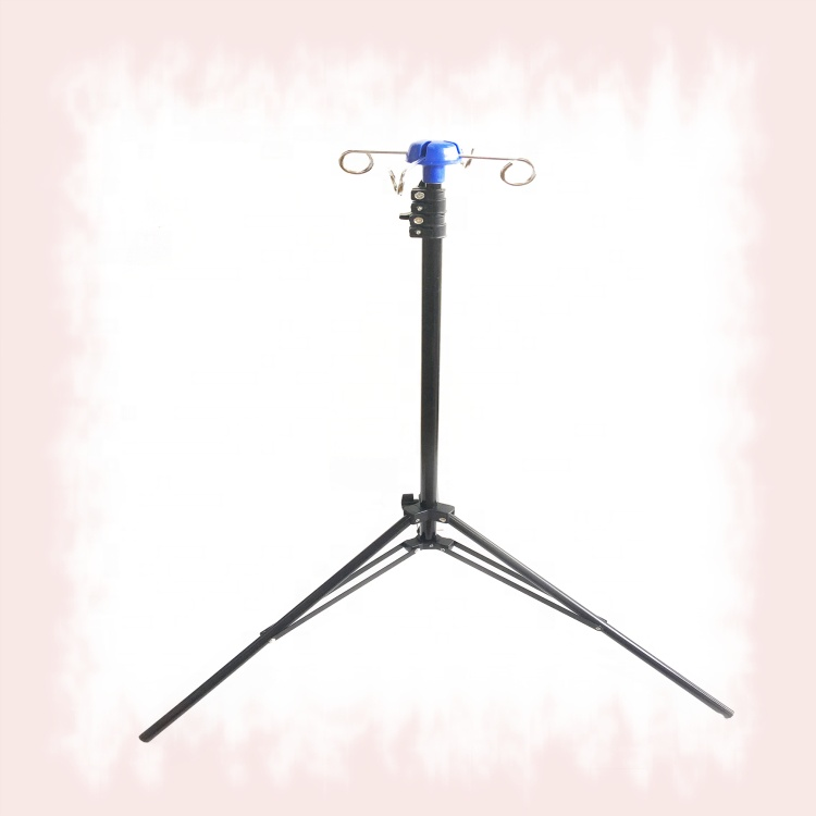 M-IV1collapsible Hanging saline IV Pole stand drip stand for hospital bed use