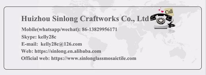 Huizhou terkenal berlian seri ruang tamu dinding kaca mosaik ubin