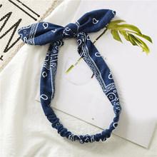 Женские повязки для волос в стиле ретро, хлопковые эластичные повязки на голову с бантом, тюрбан, повязки для волос, аксессуары для волос(Китай)
