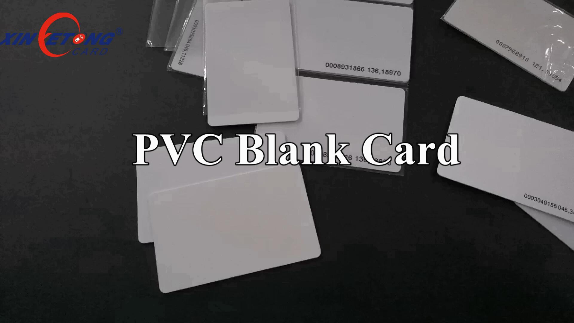 Dual chips LF+HF Inkjet printable white blank plastic PVC card