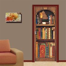 Креативная 3D винтажная деревянная дверная дверь наклейка Diy домашний Декор наклейки самоклеящиеся обои на дверь водостойкая Фреска для спа...(Китай)