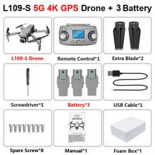 L109 gps Дрон 4K с камерой HD 5G wifi Квадрокоптер Дрон Профессиональный Квадрокоптер seflie Дрон мини дроны 1 км на большое расстояние(Китай)