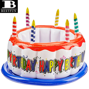 Sensational Top Quality Vinyl Inflatable Birthday Cake Cooler Eco Friendly Funny Birthday Cards Online Overcheapnameinfo