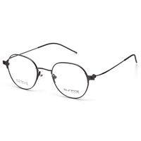 Titanium round optical spectacles glasses, luxury handmade eyeglasses metal frame 2019