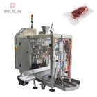 Frozen meat vacuum standup pouch doypack packing machine for beef pork chicken meat