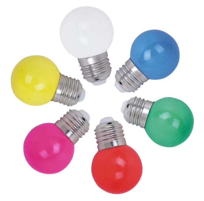 0.5w G45 B22 E27  COLOURFUL COLOR high lumen   90LM/W LED BULB