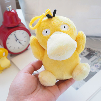 2020 Best Sale Japanese Anime Cartoon Pikachu Plush Psyduck Toy Stuffed Animal Collectible Doll Soft Keychain Gift for Children