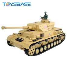 3859 DAK Pz.Kpfw.IV Ausf.F-1 Gearbox Tracks 1/16 Military Airsoft Shooting Battle Heng Long RC Tank with Smoke & Sound