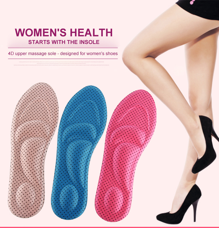 4d Ladies Shoes Insole Arch Support
