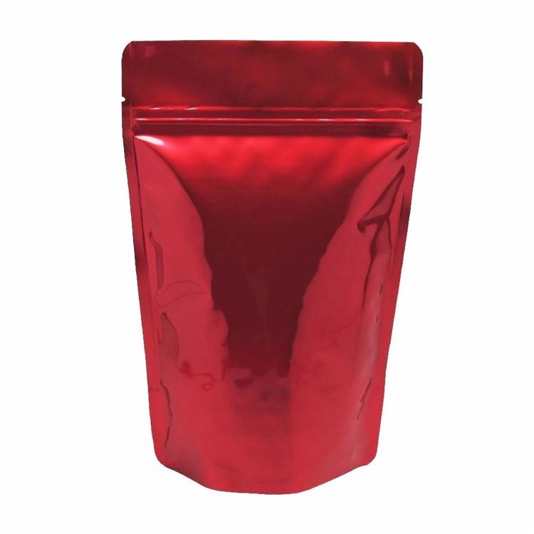 Aangepaste 250g 500g plastic zakken Hersluitbare stand up koffie thee pouch aluminiumfolie ziplock packet