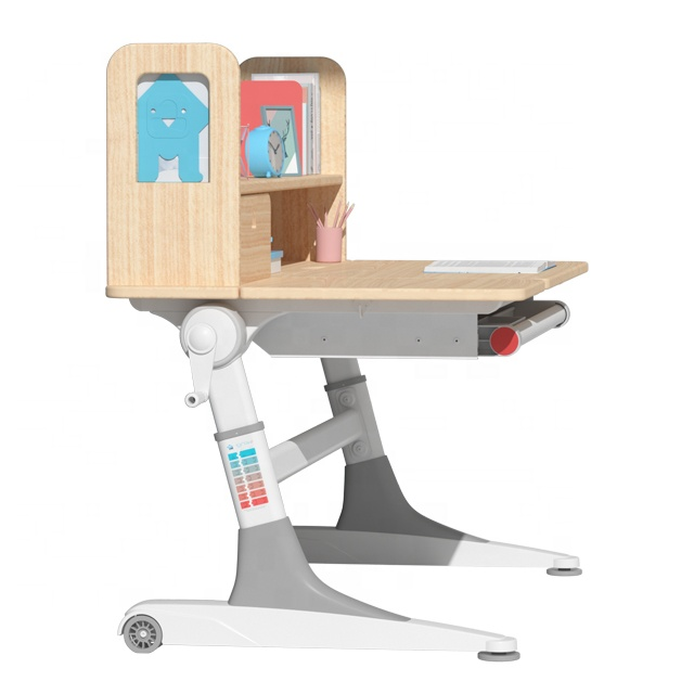 IGROW Natural log ergonomic student desk and chair set computer office desk