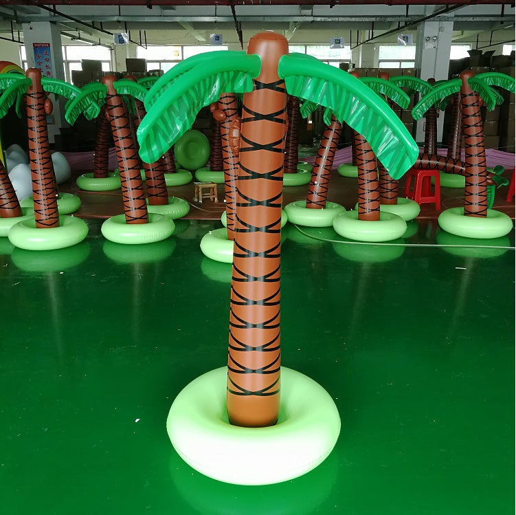 Pvc Sprinkler Palm Boom Kids Opblaasbare Outdoor Party Spuiten Opblaasbare Coconut Palm Tree Yard Sprinkler Speelgoed