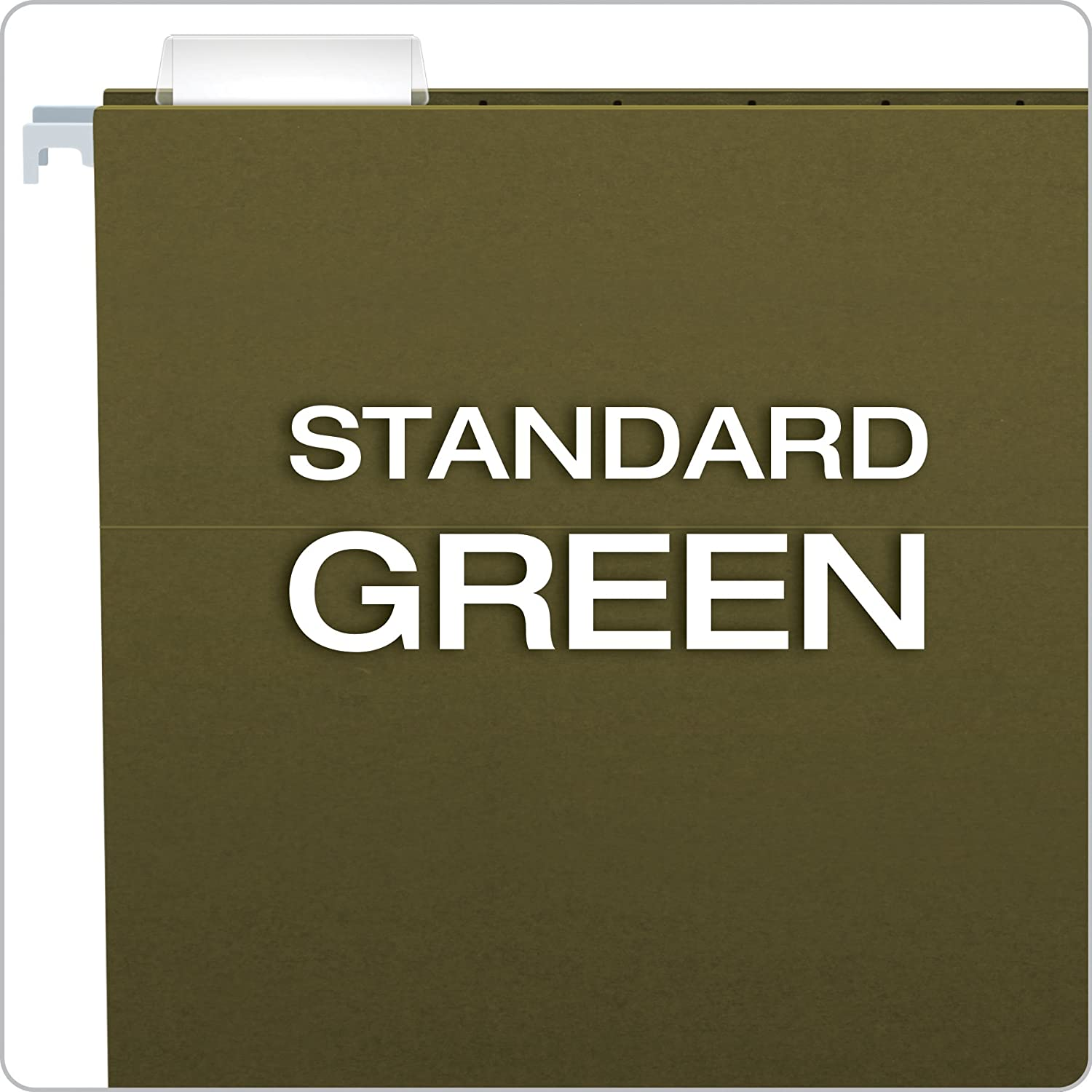 china stationery Standard Green 25pcs/Box Home and Office Color Coded File Reinforced Hanging File Folders