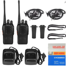 2 verpakt Mini 16 Kanaals UHF 400-470MHz Two Way Radio Handheld Walkie Talkie <span class=keywords><strong>baofeng</strong></span> BF-888s