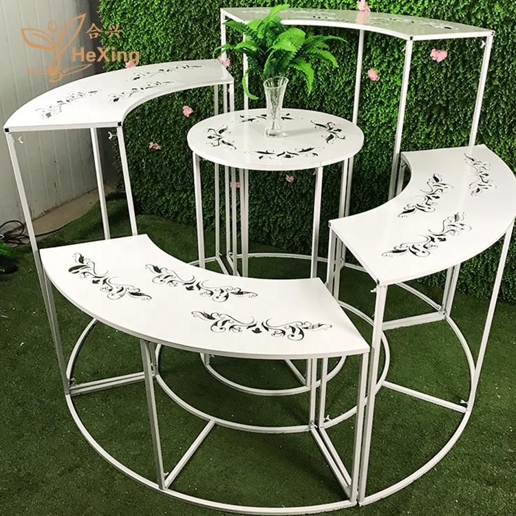 כוכב אביב מתכת מגולף חיצוני עוגת תצוגת שולחן מסיבת חתונה ואירוע שלב קישוט ברזל קינוח שולחן