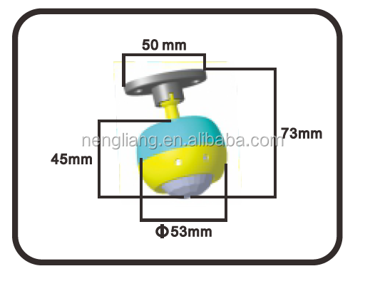 ES-P27A wall or ceiling mounted sensor LED suitable Swivelling IR motion detector