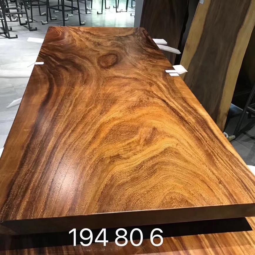 South America walnut natural shape table top live edge wood slab