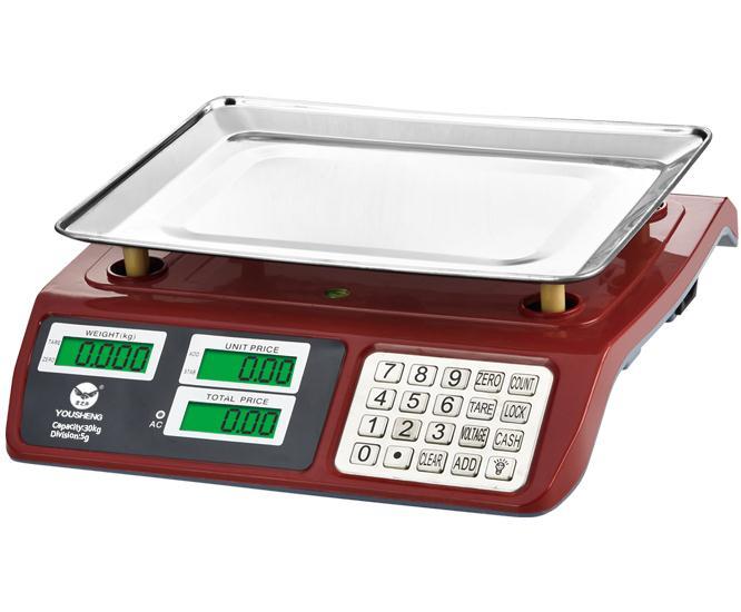 Colore rosso In Acciaio Inox Pulsante di Max 30kg Prezzo Elettronico Digitale Scala 5g Divisione Piatto Vassoio 420g Batteria stabile Cella di Carico