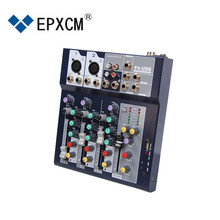 Epxcm/F4-USB 4 Kanaals 15 Watt Mini Professionele Analoge Pa Dj Sound <span class=keywords><strong>Audio</strong></span> Mixer Met Usb <span class=keywords><strong>Interface</strong></span> Voor <span class=keywords><strong>Studio</strong></span>, br
