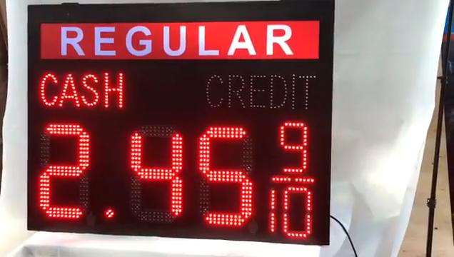 Led benzin istasyonu işareti, satılık nakit kredi led gaz fiyat işaretleri