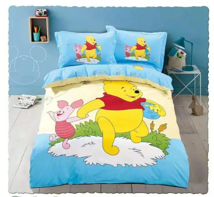 OEKO-TEX fornecimento de fábrica 100% algodão urso impressão Bebê crianças Cama set capa de edredão