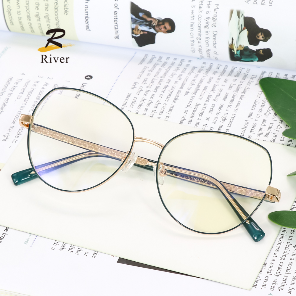 Мужские и женские круглые металлические оптические оправы для очков в стиле унисекс