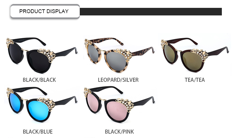 Luxury Mirror Rhinestone Unique 2020 New Arrivals Women Cat Eye Sunglasses