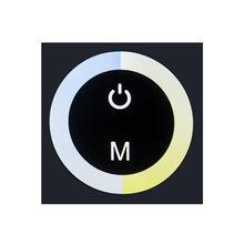 Цветная (RGB) Управление; умный светодиодный диммер Цвет темпе Управление 12-24V светодиодный свет настенный сенсорный выключатель Панель для С...(Китай)