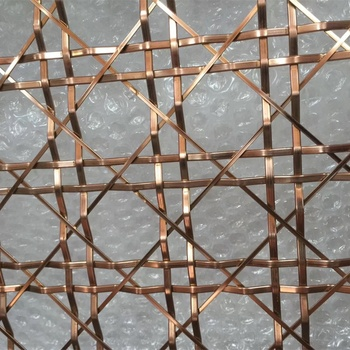 Bronze PVD coating stainless steel decorative mesh for room divider
